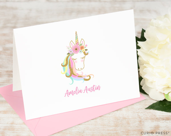 Gentle Unicorn: Folded Card Set - Curio Press