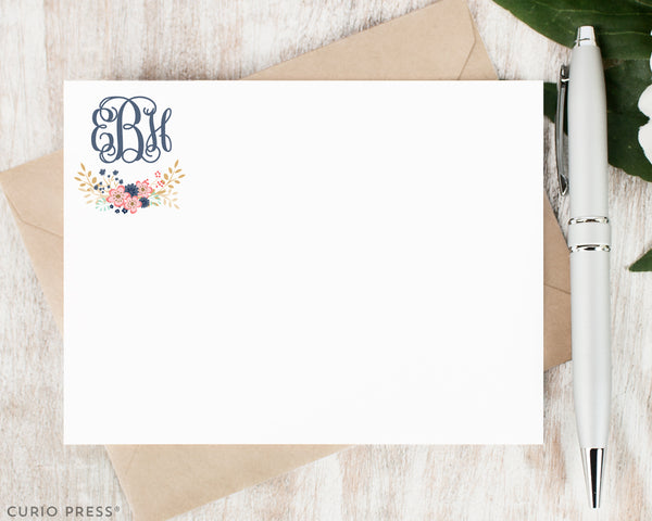 Girly Monogram: Flat Card Set - Curio Press