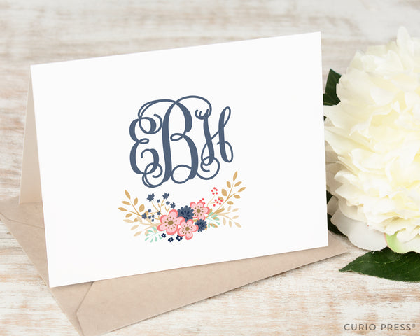 Girly Monogram: Folded Card Set - Curio Press