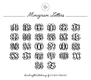 Girly Monogram: Notepad - Curio Press