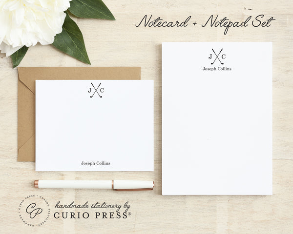 Golf: Flat Card + Notepad Set - Curio Press