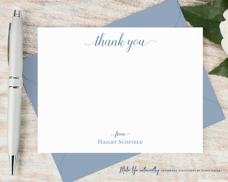 Graceful Thank You: Flat Card Set