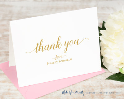 Graceful Thank You: Folded Card Set