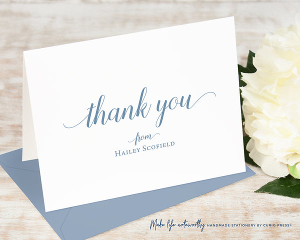 Graceful Thank You: Flat Card Set - Curio Press