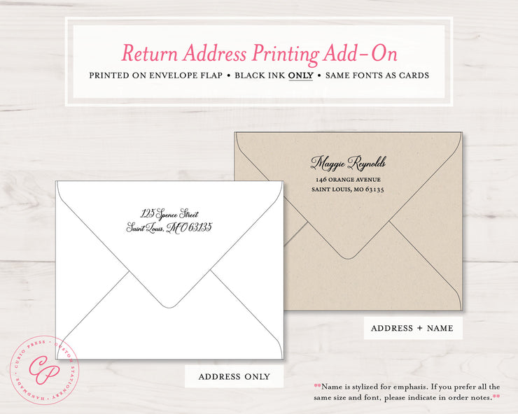 Grand Script: Flat Card + Notepad Set - Curio Press