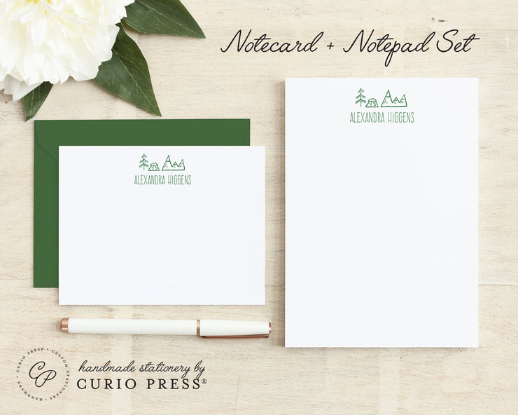 Great Outdoors: Flat Card + Notepad Set - Curio Press