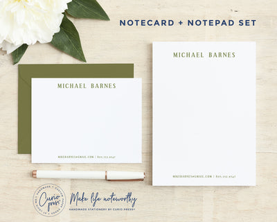 Hardy 2-Piece Set: Flat Card + Notepad Set
