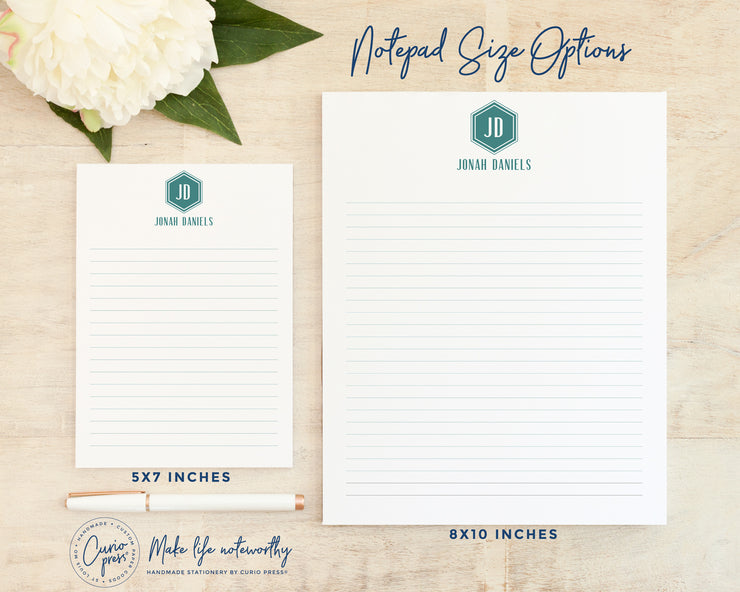 Hexagon Monogram: Notepad