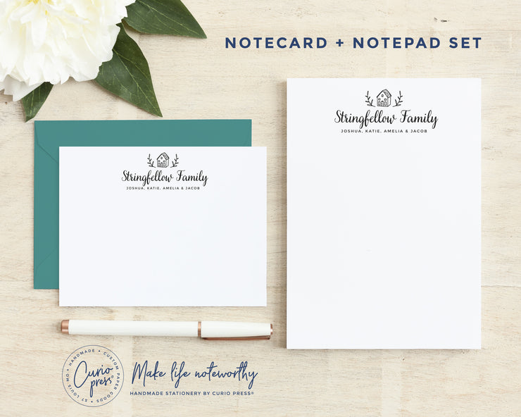 Home: Flat Card + Notepad Set