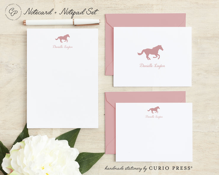 Horse: Folded + Flat + Notepad Set - Curio Press