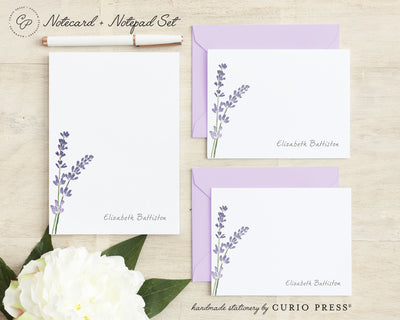 Lavender: Folded + Flat + Notepad Set - Curio Press