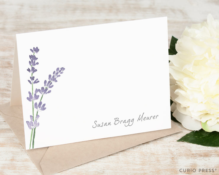 Lavender: Folded Card Set - Curio Press