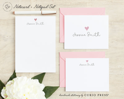 Lovely Heart: Folded + Flat + Notepad Set - Curio Press