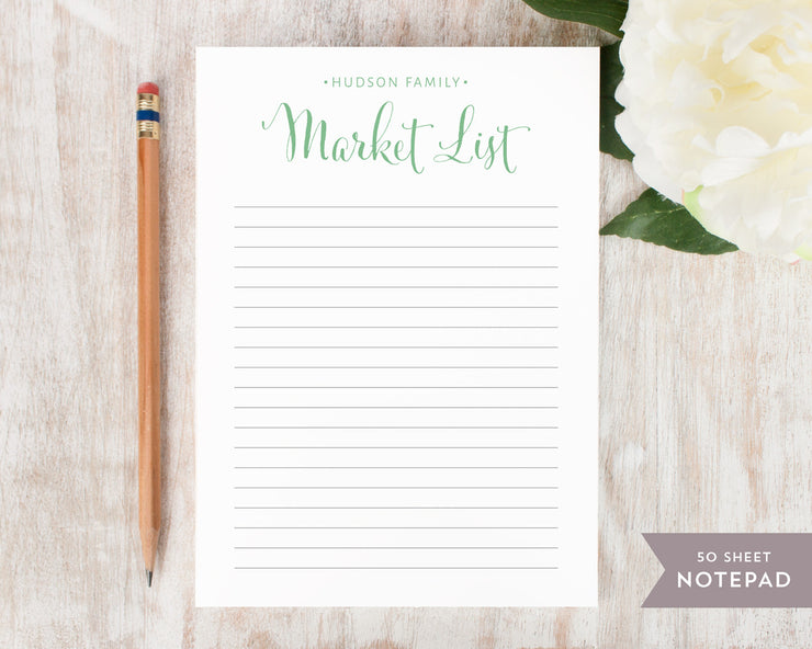 Market List: Notepad - Curio Press