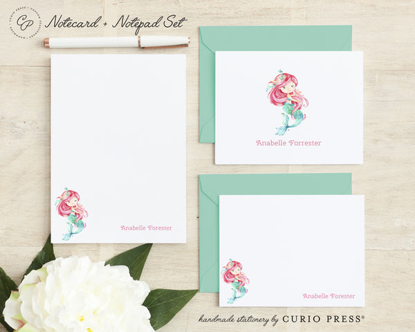 Mermaid: Folded + Flat + Notepad Set - Curio Press