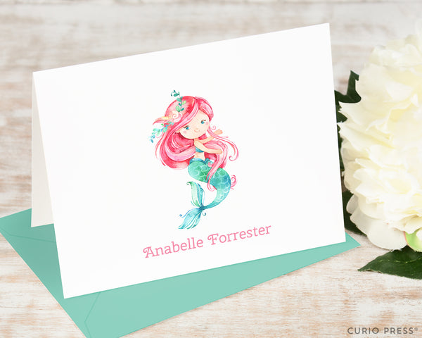 Mermaid: Folded Card Set - Curio Press