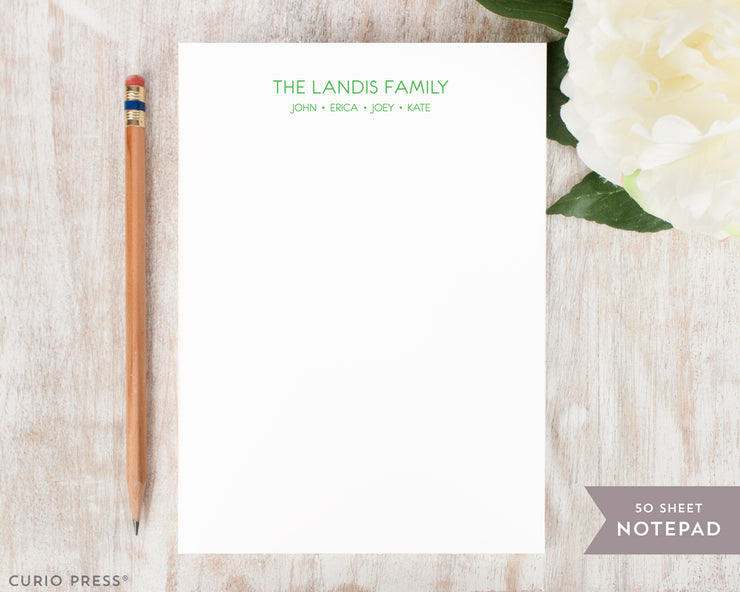Modern Family: Notepad - Curio Press