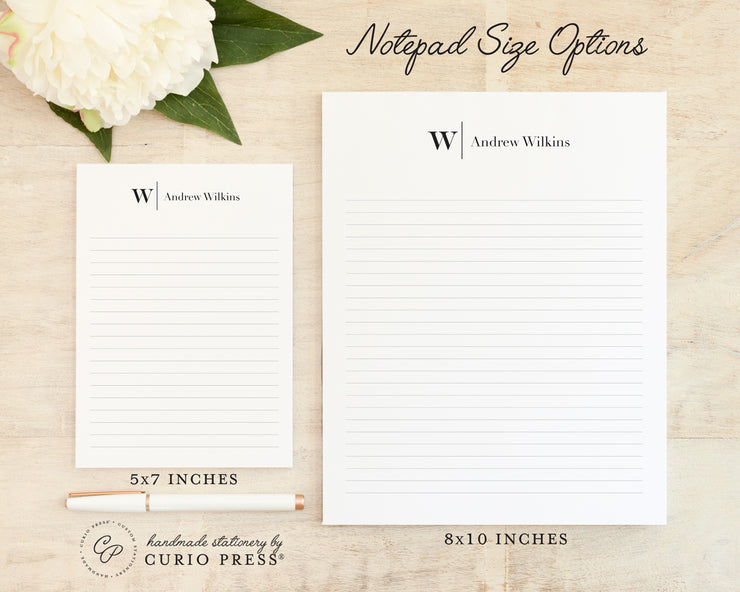 Modern Monogram: Notepad - Curio Press