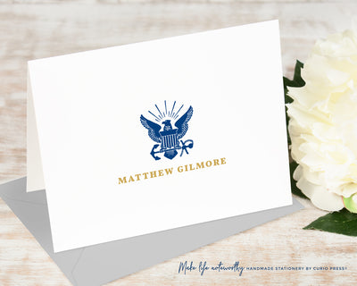 Navy: Folded Card Set