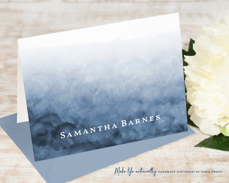 Navy Ombre: Folded Card Set