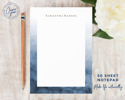 Navy Ombre: Notepad