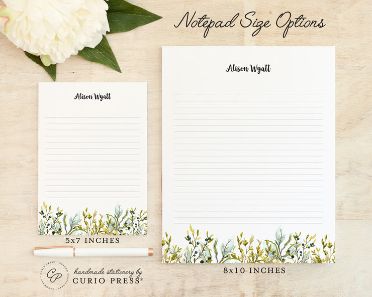 Olive Leaves: Notepad - Curio Press