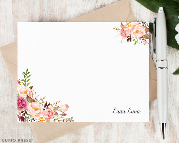 Painted Florals I: Flat Card Set