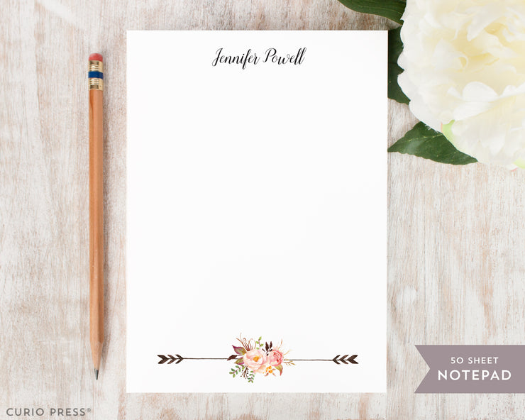Painted Florals II: Notepad