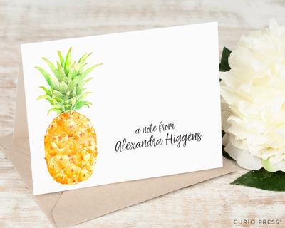 Painted Pineapple: Folded Card Set