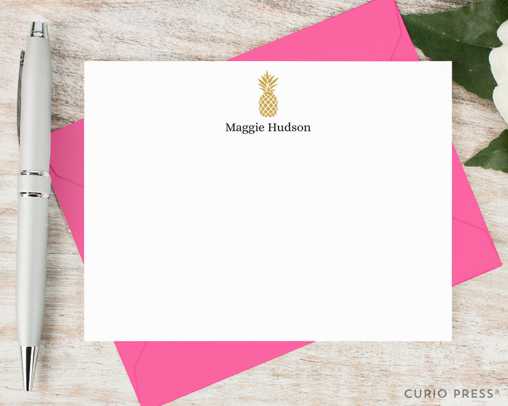 Pineapple Silhouette: Flat Card Set