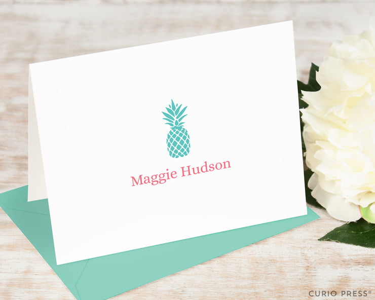 Pineapple Silhouette: Folded Card Set