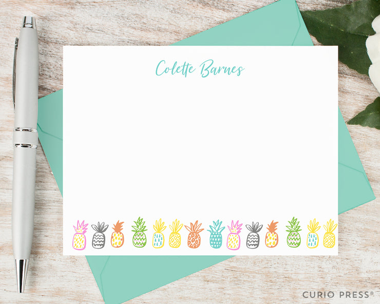 Playful Pineapples: Flat Card Set