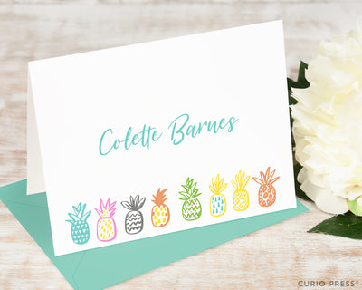 Playful Pineapples: Folded Card Set