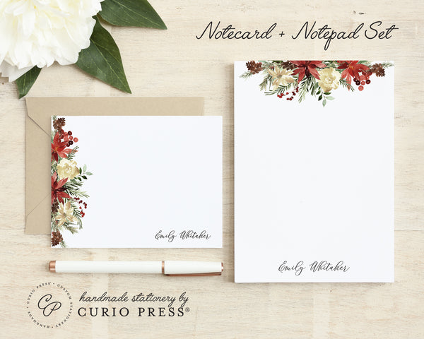 Floral 2-Piece Stationery Set