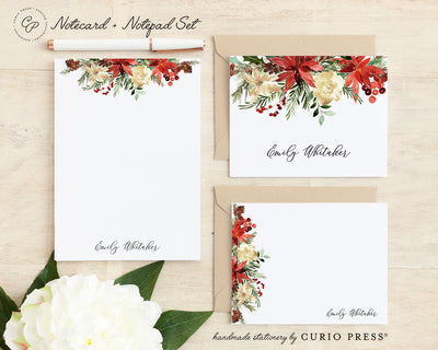 Floral 3-Piece Stationery