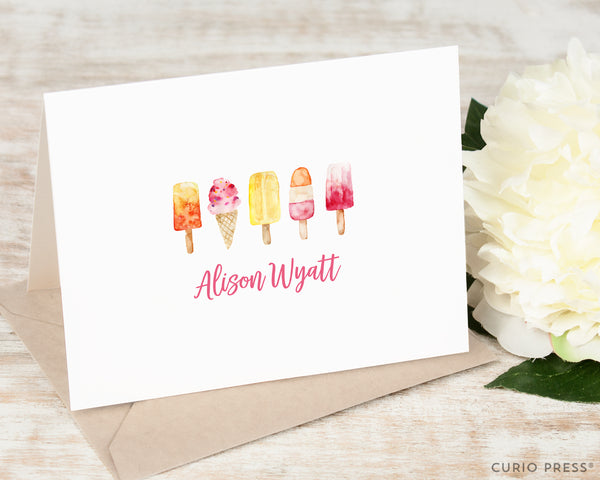 Popsicles: Folded Card Set