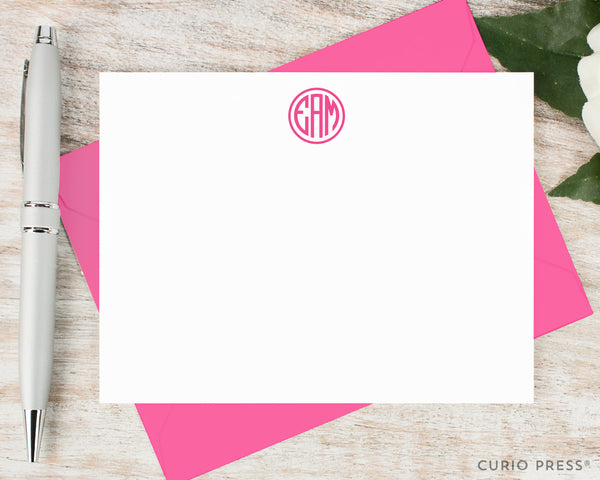 Preppy Monogram: Flat Card Set