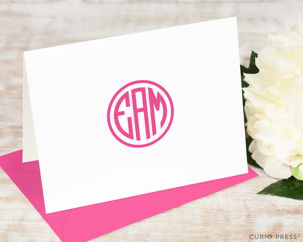 Preppy Monogram: Folded Card Set
