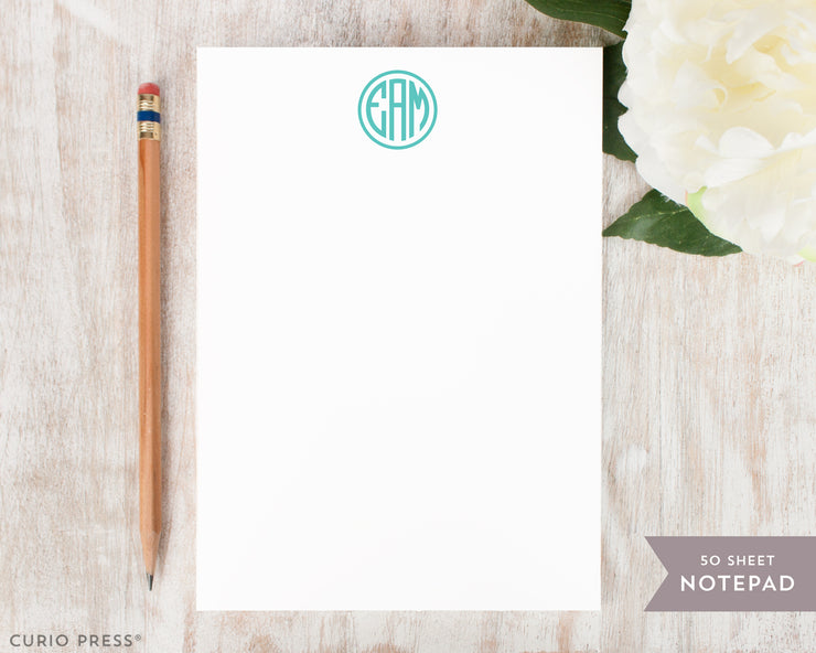 Preppy Monogram: Notepad