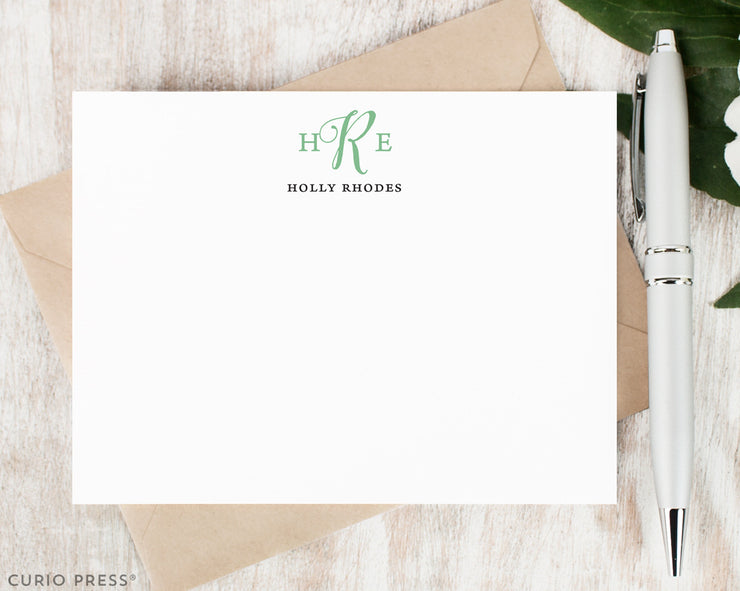 Pretty Monogram: Flat Card Set