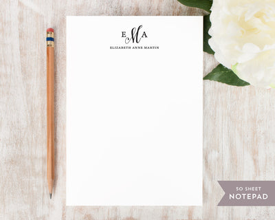 Pretty Monogram: Notepad