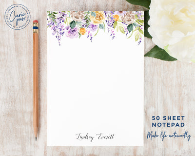 Purple Flowers: Notepad