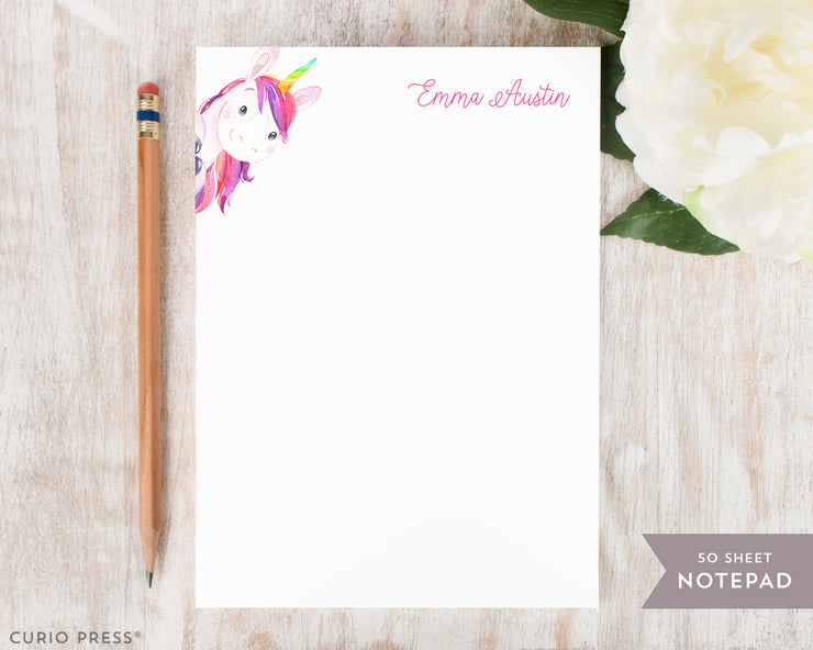Rainbow Unicorn: Notepad