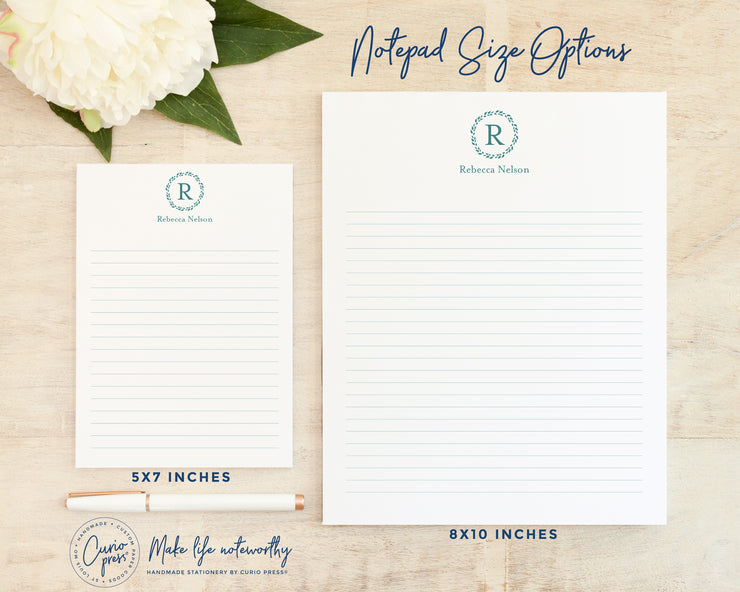 Refined Monogram: Notepad