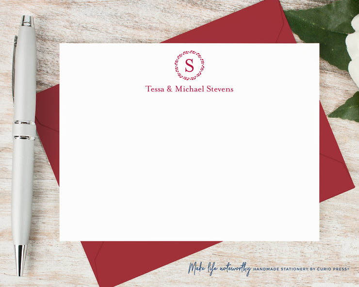 Refined Monogram: Flat Card Set