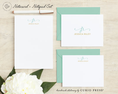 Rosalina Monogram: Folded + Flat + Notepad Set