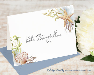 Sea Shells: Folded Card Set
