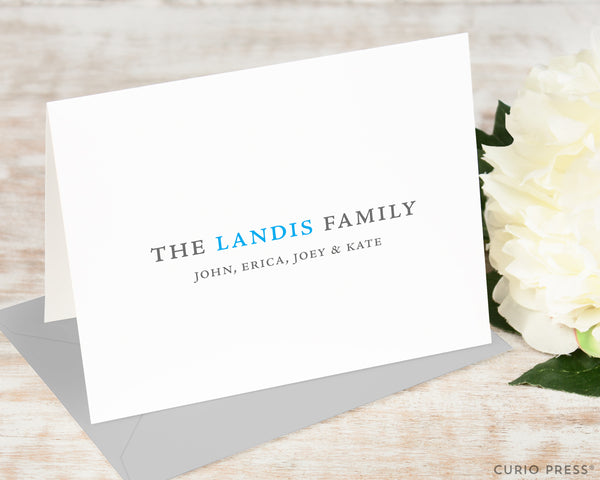 Simple Family: Folded Card Set