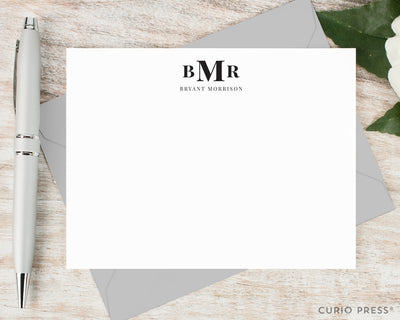 Simple Monogram: Flat Card Set