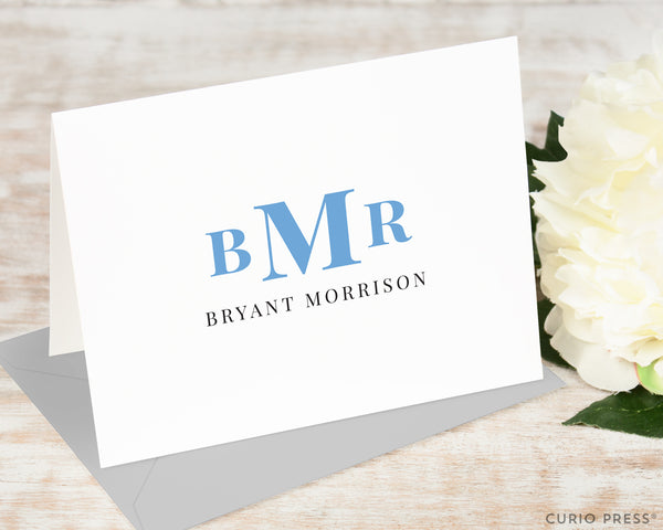 Simple Monogram: Folded Card Set